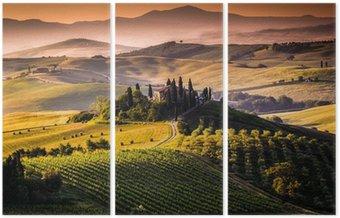 Tryptyk Krajobraz, Toskania - Włochy