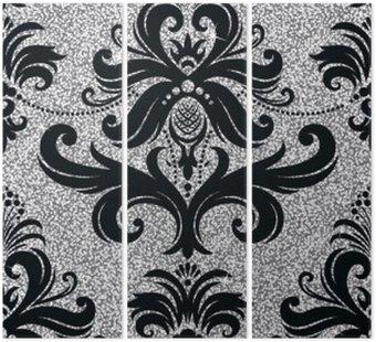 Tryptyk Kwiatowy srebrny tapety