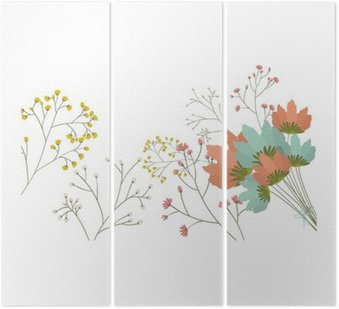 Kwiaty ikony. Dekoracje tamtejsze ogród kwiatowy roślinie i wiosną temat. Izolowane projektowania. ilustracji wektorowych