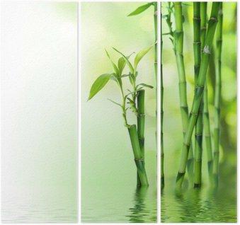 Tryptyk Łodygi bambusa na wodzie