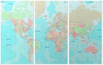 Tryptyk Mapa polityczna świata