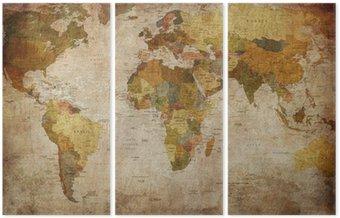 Tryptyk Mapa świata