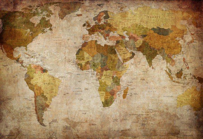 Tryptyk Mapa świata -