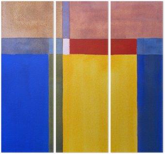 Tryptyk Minimalistyczny malarstwo abstrakcyjne