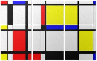 Tryptyk Mondrian sztuka cyfrowa