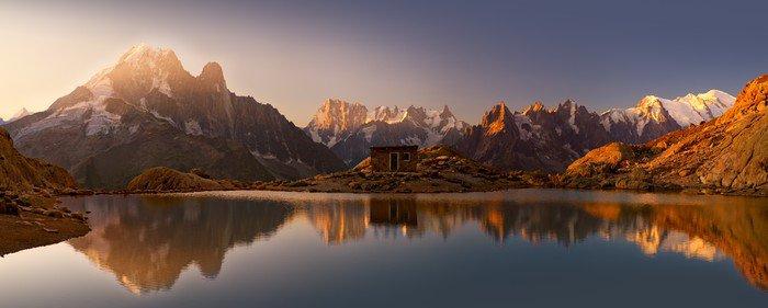 Tryptyk Mont Blanc oraz Alpy odzwierciedlone w White Lake - Tematy