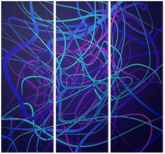 Neon kształty, kompozycji abstrakcyjnych, jasne tło, plątanina kolorowych kształtów wektorowych sztuki projektowania