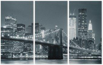 Tryptyk New York City Brooklyn Bridge