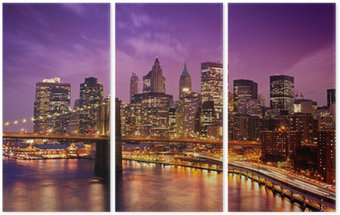 Tryptyk New York Manhattan Pont de Brooklyn