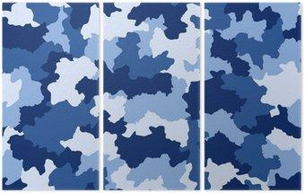 Niebieski bez szwu wzór kamuflażu