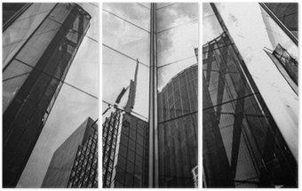 Tryptyk Nowoczesna architektura w czerni i bieli