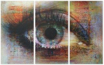 Tryptyk Oczy tekstury