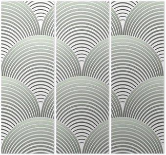 Tryptyk Ozdobny płatki siatki geometryczne, abstrakcyjne wektor powtarzalne