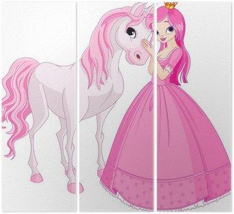 Tryptyk Piękne księżniczki i koń