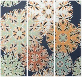Tryptyk Piękny szwu. Elementy dekoracyjne ilustracji wektorowych