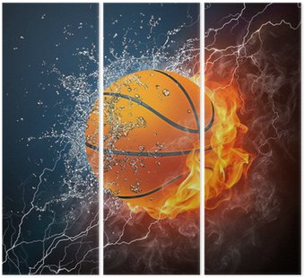Tryptyk Piłka do koszykówki