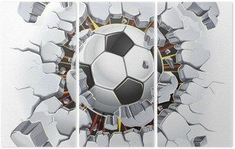 Piłka uszkodzenia ścian i starych tynków. ilustracji wektorowych