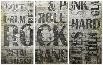 Tryptyk Plakat grunge rock