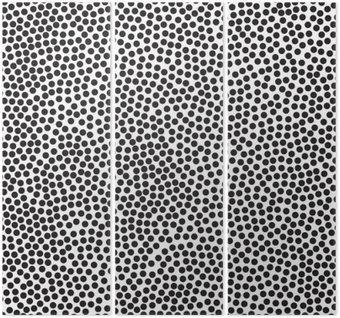 Polka dot tle, bez szwu. Czarny i biały. ilustracji wektorowych EPS 10