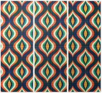 Tryptyk Powtarzalny abstrakcyjny wzór geometryczny