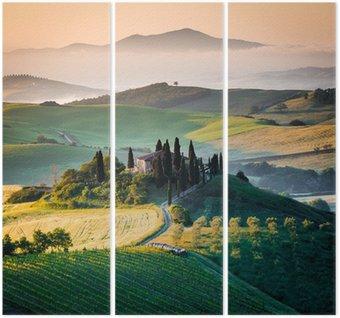 Tryptyk Ranka w Toskanii i wzgórza