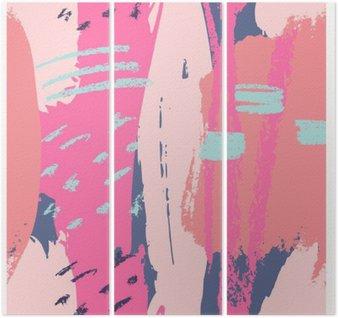 Tryptyk Ręcznie rysowane Abstract Design