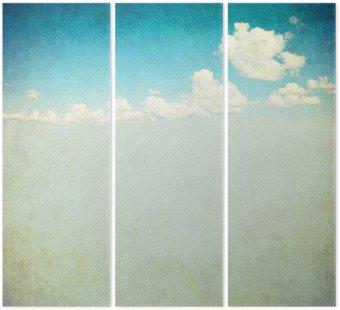 Tryptyk Retro obraz pochmurne niebo