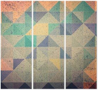 Tryptyk Różowy i fioletowy trójkąt abstrakcyjne tło ilustracji