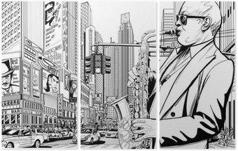 Tryptyk Saksofonista na ulicy w Nowym Jorku