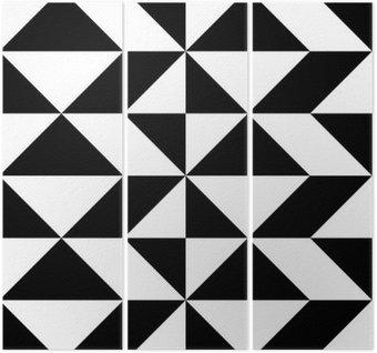 Tryptyk Seamless Wrapping Paper design. Streszczenie Nowoczesne Geometryczne Tło