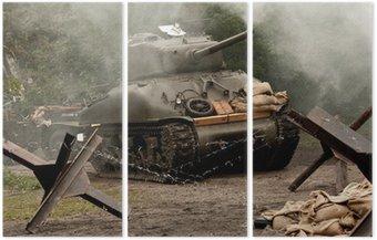 Tryptyk Sherman Tank - WW II