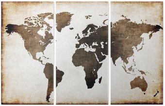 Tryptyk Stara mapa świata