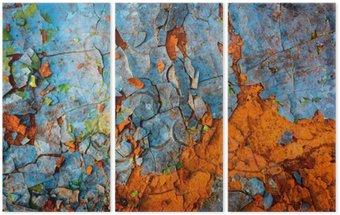 Tryptyk Stare pomalowane ściany