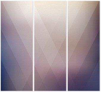 Tryptyk Streszczenie geometryczny fioletowy wielokątne tła. ilustracji wektorowych