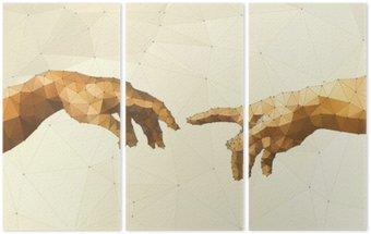 Tryptyk Streszczenie ilustracji wektorowych ręka Boga