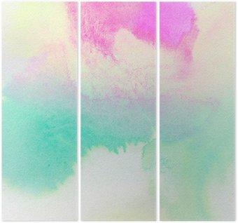 Tryptyk Streszczenie kolorowe akwarela malowane tła