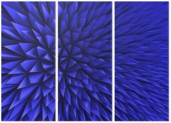 Tryptyk Streszczenie Poligon chaotyczny niebieskie tło