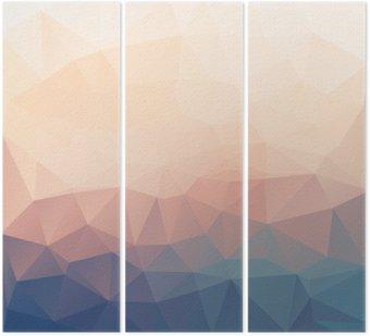 Tryptyk Streszczenie poligonal teksturą tle.