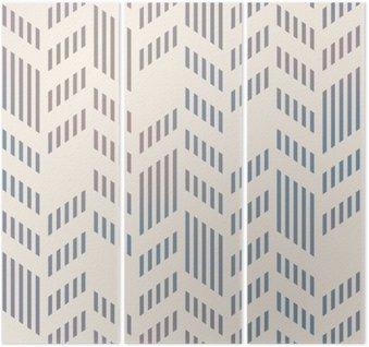 Tryptyk Streszczenie szwu geometryczny wzór wektor Chevron. Mesh backgro