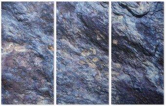 Tryptyk Tło kamień, rock ściany tło z szorstkiej fakturze. Abstrakcyjny, grungy i teksturą powierzchni materiału kamiennego. detal przyroda skały.