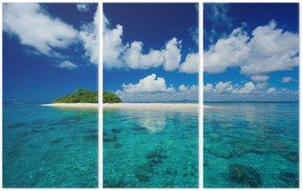 Tryptyk Tropikalna wyspa raj wakacje
