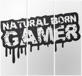 Urodzonym gamer stempel Graffiti