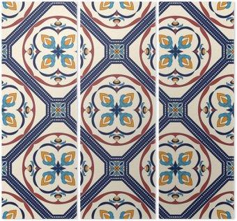 Tryptyk Wektor bez szwu tekstury. Piękny kolorowy wzór do projektowania i mody z elementami dekoracyjnymi