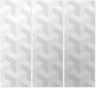 Tryptyk Wektor nierealne tekstury, abstrakcyjna projektowania, budowy iluzja, białe tło