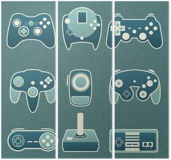 Wektorowa zestaw: Retro Video Game Piloty