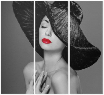 Tryptyk Wspaniała kobieta w kapeluszu