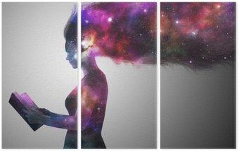Tryptyk Wszechświat kobieta