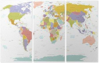 Tryptyk Wysokiej szczegół świata map.layers używane.