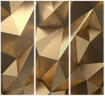 Złoto Streszczenie 3D Render Kontekst
