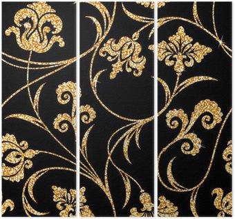 Złoty kwiatu tapety